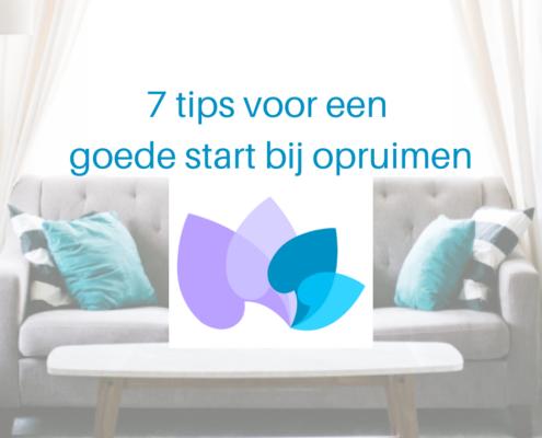 7 tips voor een goede start bij opruimen